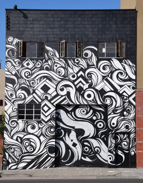 Black and white mural public art and architecture from for Black and white mural