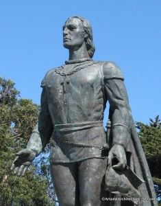 Telegraph Hill - Coit Tower and Christopher Columbus