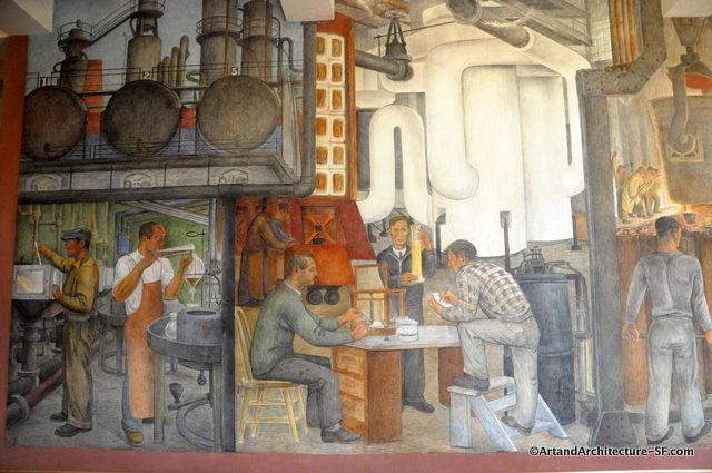 Coit tower murals images galleries for Coit tower mural artists