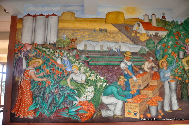 Maxine albro public art and architecture from around the for Coit tower mural