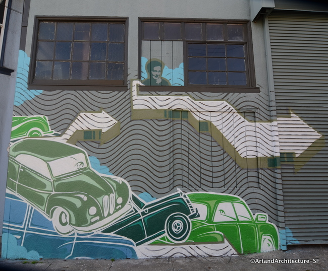 Car Mural on York Street