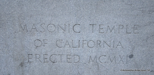 Masonic  Temple cornerstone
