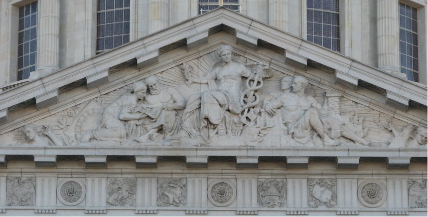 City Hall Tympanum by Henri Crenier