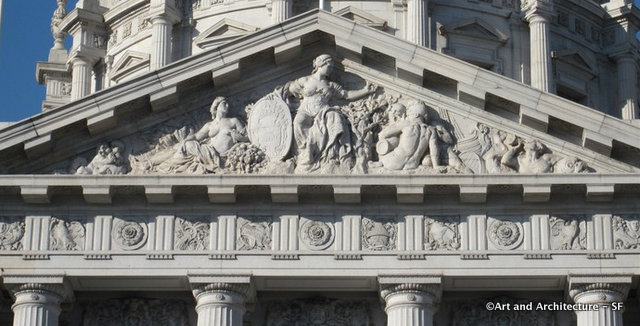 San Francisco City Hall Tympanum by Henri Crenier