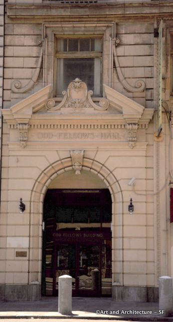 Odd Fellows Front Door on 7th Street in San Francisco