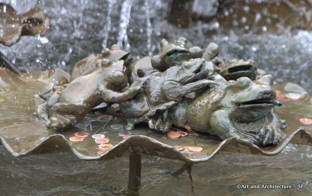 Frogs in a fountain at ghirardelli square