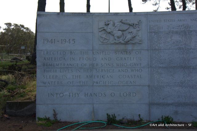 WWII memorial to the missing in SF Presidio