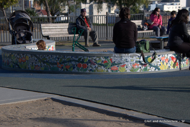 Tile Benches at SF Alta Park