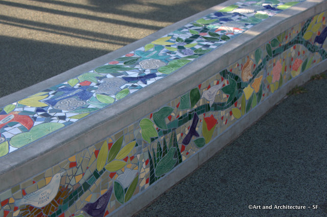 Alta Plaza Playground Tile Benches