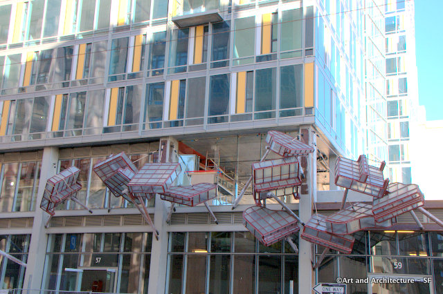Flying Pianos on 9th Street in San Francisco
