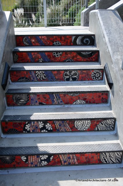 Tile Stairs in Hunters Point