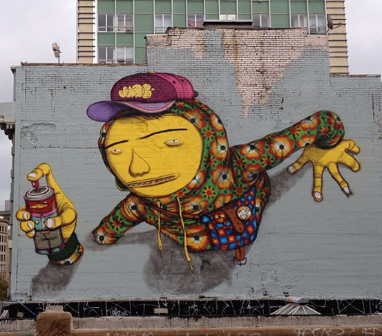 Os Gemeos on Market Street