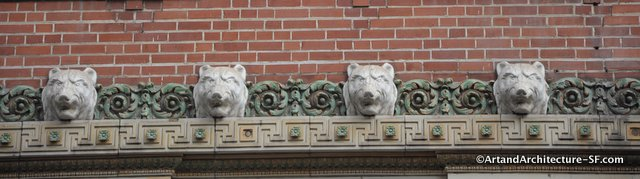 Golden Bears by Jo Mora on the NSGW Building in San Francisco