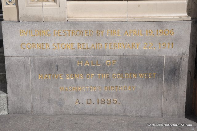 Cornerstone of the NSGW Building in San Francisco