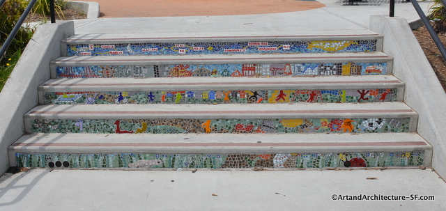 Tile stairways in Balboa Park San Francisco Public Art