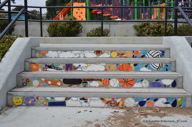 Mosaics at Balboa School in San Francisco Public Art
