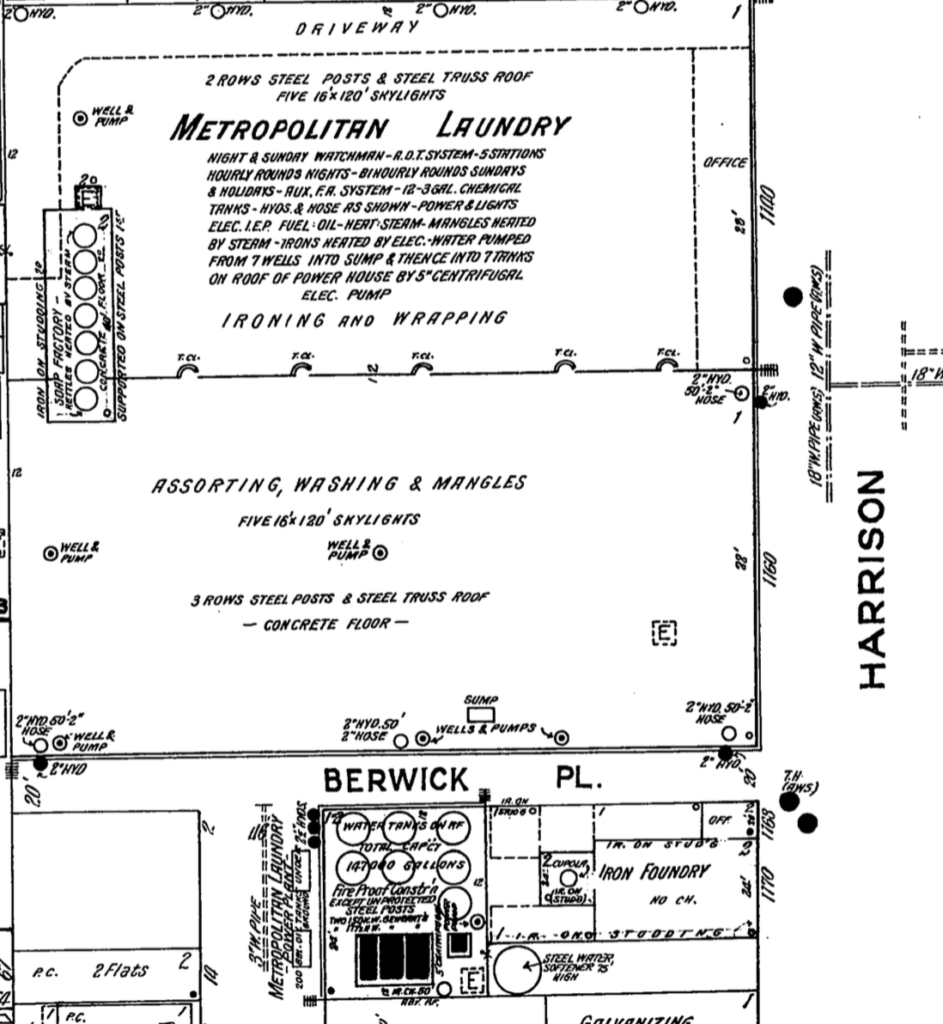 This is from the 1913-1915 Sanborn Map. Volume 2 Page 180