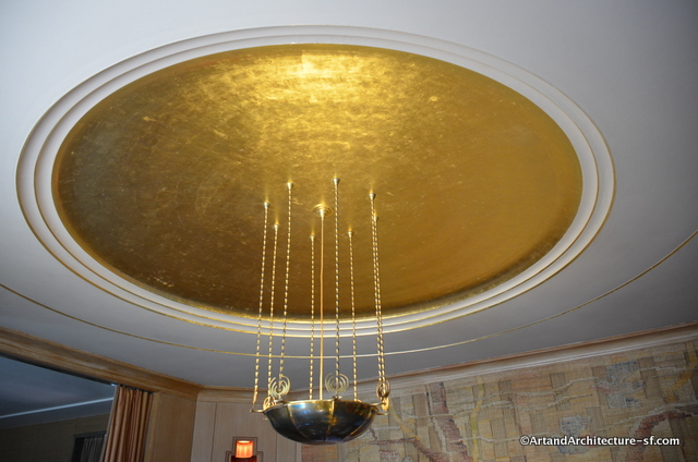 Gold leaf covered dome lighting saarinen
