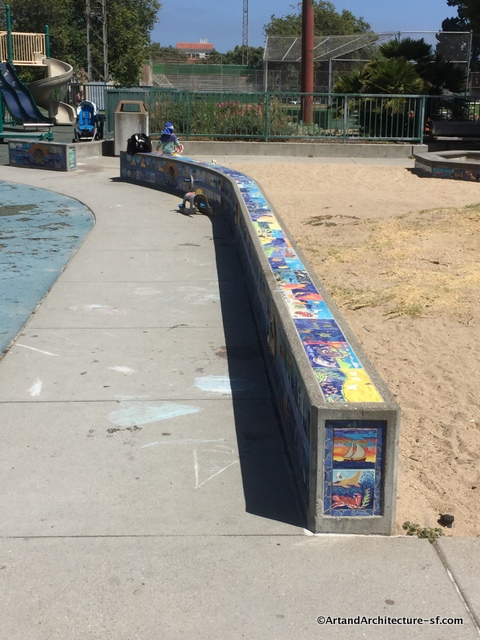 Tile Bench at Moscone Park and Playground